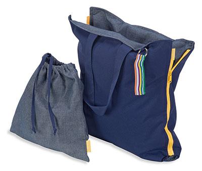 Diese praktische Tasche ist als Sitzgelegenheit nutzbar