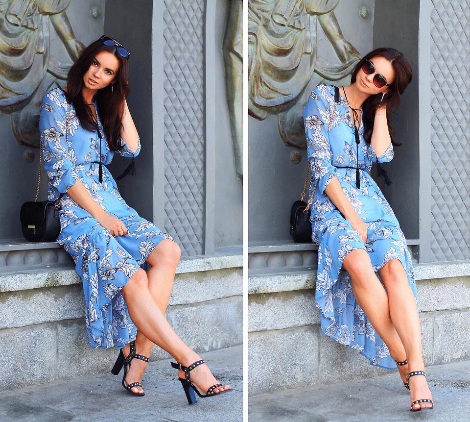 blaues kleid mit blüten - kreativliste