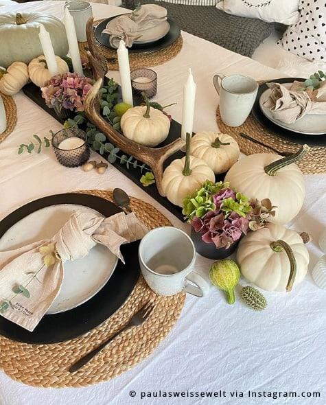 Hortensien Als Tischdeko Im Herbst Kreativliste