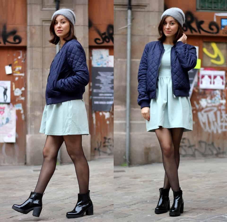 Steppjacke zur Hose tragen