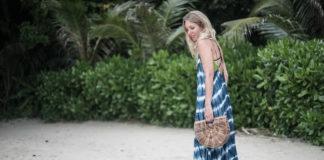 Kleid im Batik-Look