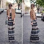 Kleid mit Batik-Streifen