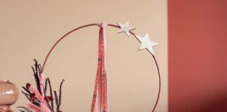 Floral Loop mit Bändern dekoriert