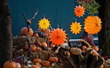 Barlooon Lampions in orange und gelb als herbstliche Dekoration