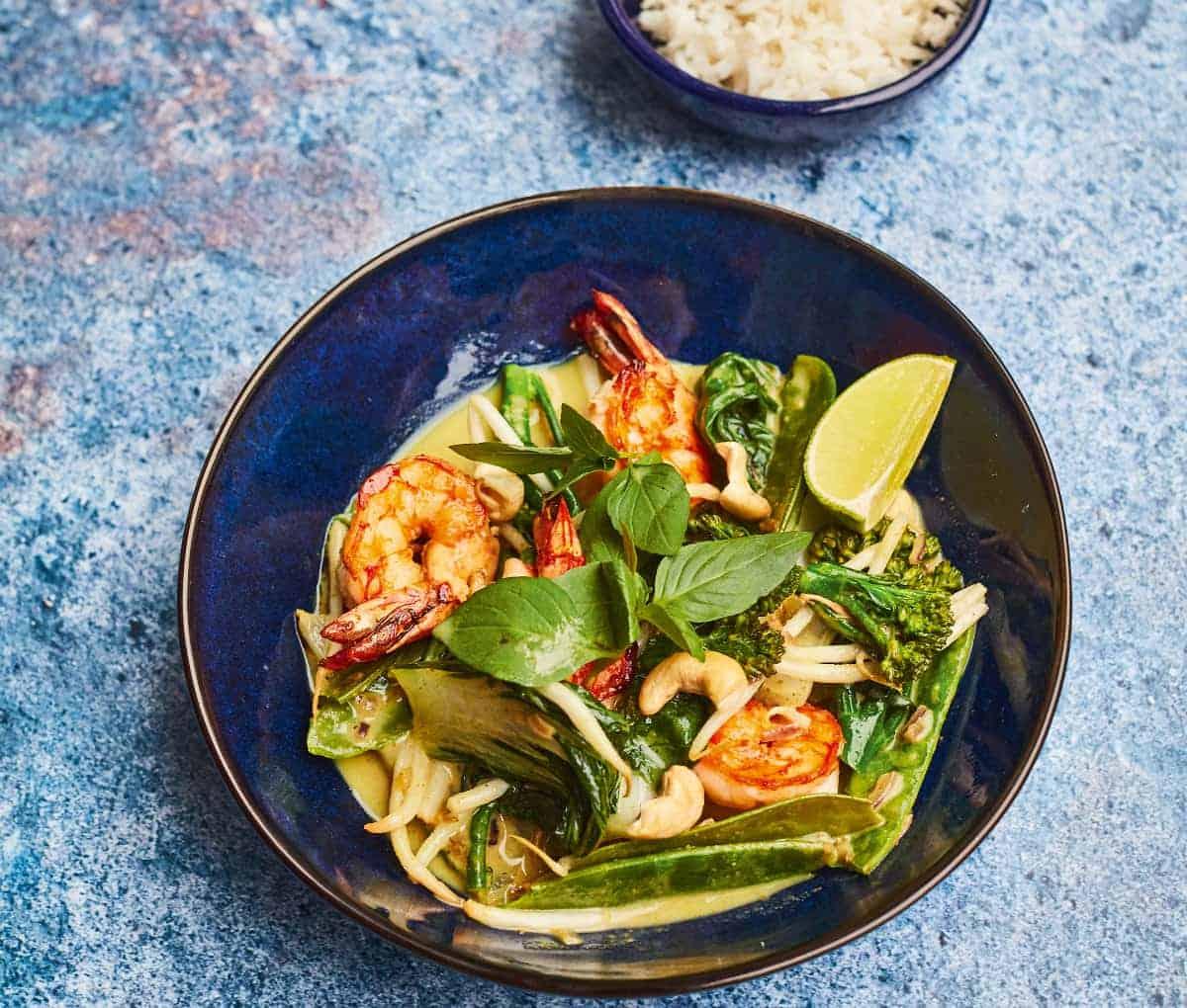 Leckeres Thai-Curry Rezept mit Tigergarnelen